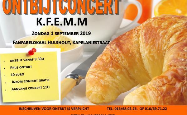 Ontbijtconcert Fanfare Hulshout